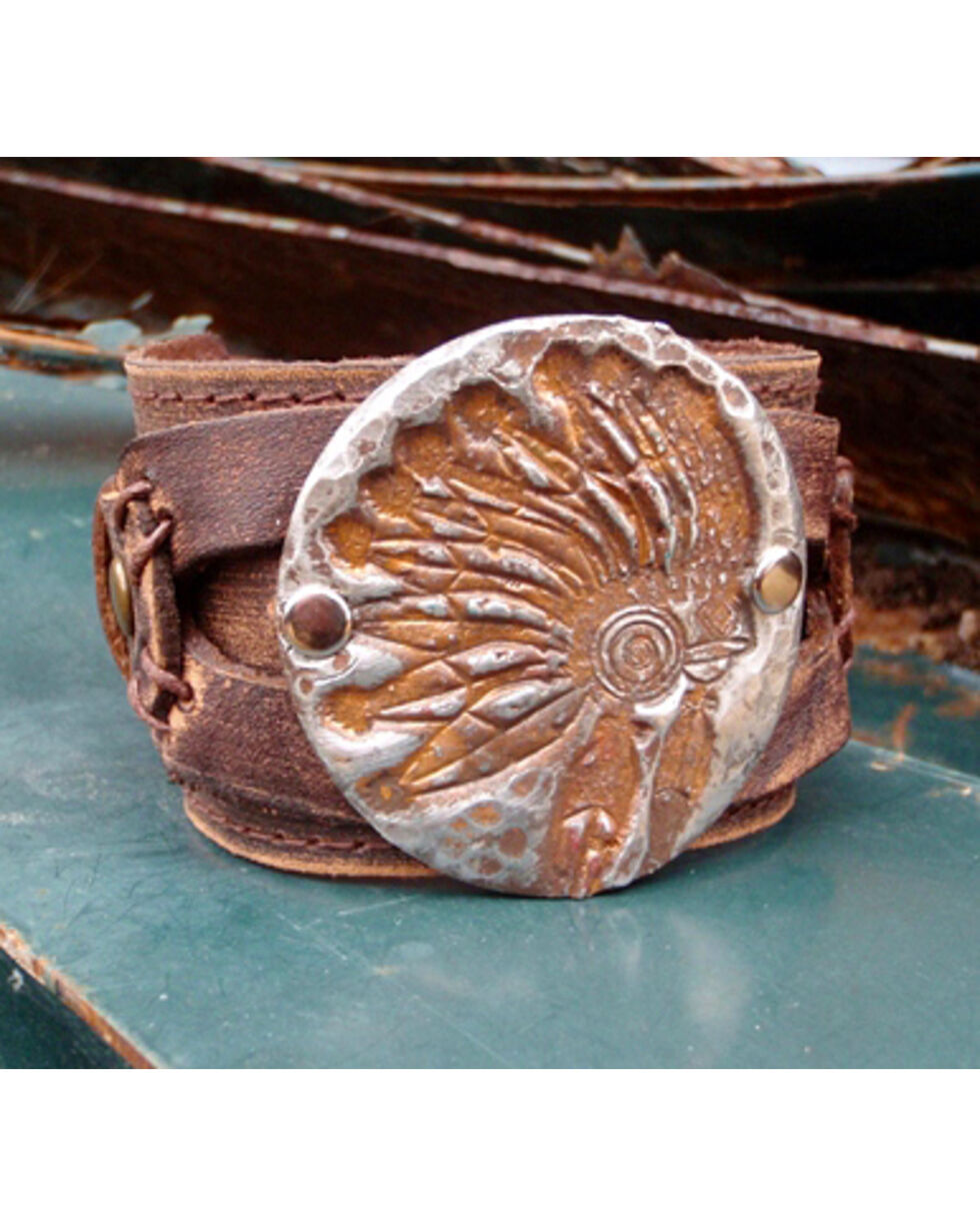 Jewelry Junkie Indian Headdress Cuff Bracelet, Multi, hi-res