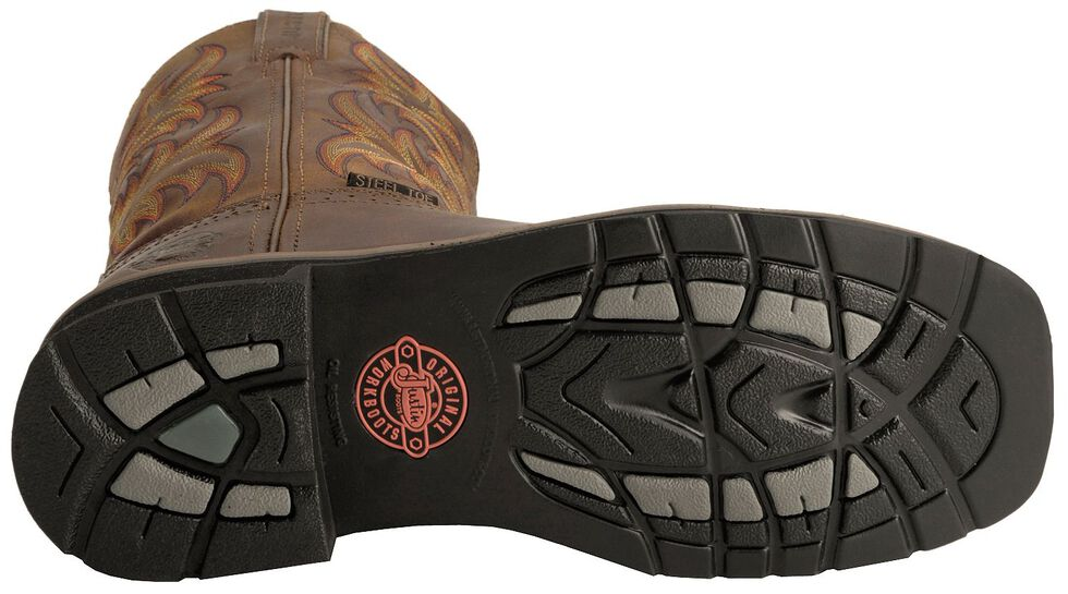 Justin Men's Stampede Driller Electrical Hazard Work Boots - Steel Toe, Tan, hi-res
