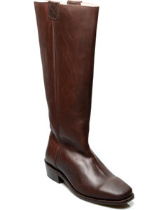 Oak Tree Farms Women's Brown Pale Rider Pull on Boots, , hi-res