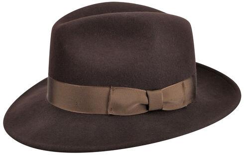 Country Gentleman Men's Brown Frederick Fedora , Brown, hi-res