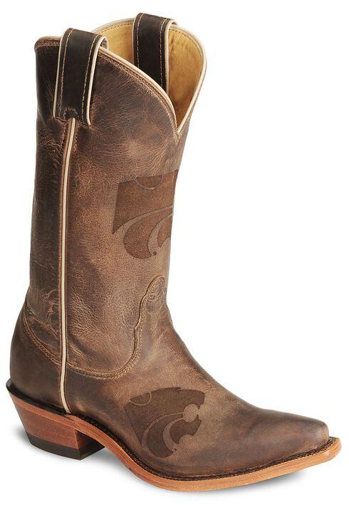 Nocona Kansas State Wildcats College Boot - Snip Toe, Tan, hi-res