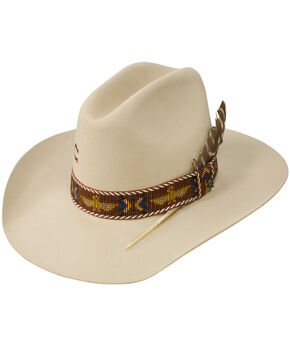 Charlie 1 Horse Women's 5X Totem Pole Hat, Ivory, hi-res
