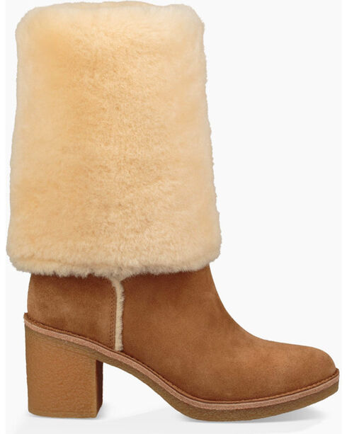 UGG Women's Chestnut Kasen Tall Boots - Round Toe , Chestnut, hi-res