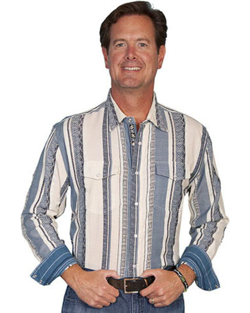 Scully Signature Series Striped Western Shirt, , hi-res