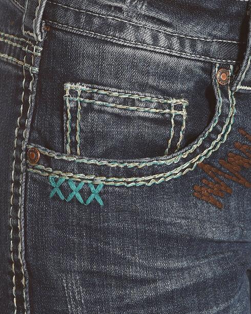 Cowgirl Tuff Women's Blue Southwest Rocker Jeans - Boot Cut , Blue, hi-res