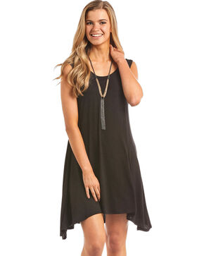 Panhandle Women's Knit Tank Dress, Black, hi-res