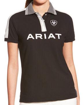Ariat Women's Black FEI New Team Polo, Grey, hi-res