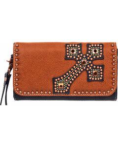 Blazin Roxx Women's Delilah Cross Wallet/Clutch , Rust Copper, hi-res
