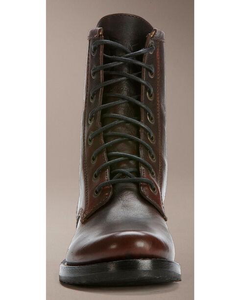 Frye Women's Veronica Combat Boots - Round Toe, Dark Brown, hi-res