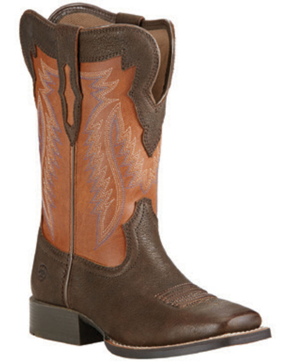 Ariat Boys' Buscadero Cowboy Boots - Square Toe, Brown, hi-res
