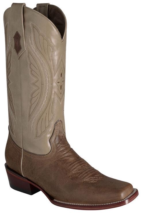 Ferrini Men's Antique Tan Kangaroo Western Boots - Square Toe, Tan, hi-res