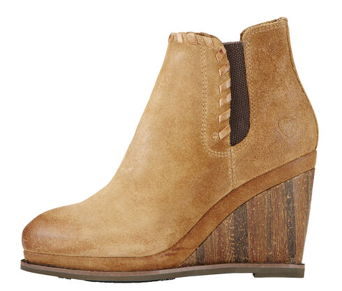 Ariat Women's Soho Sand Belle Wedge Boots - Round Toe , Sand, hi-res