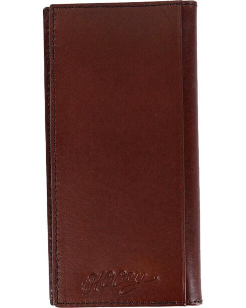 Hooey Men's Mahogany Signature Rodeo Wallet , Mahogany, hi-res