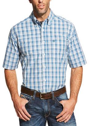 Ariat Men's Blue Dominic Shirt - Big and Tall , Blue, hi-res