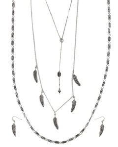 Shyanne Women's Feather & Arrow Jewelry Set, Silver, hi-res