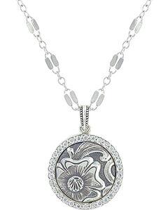 Sterling Lane Women's Daisy Vignette Necklace , Silver, hi-res