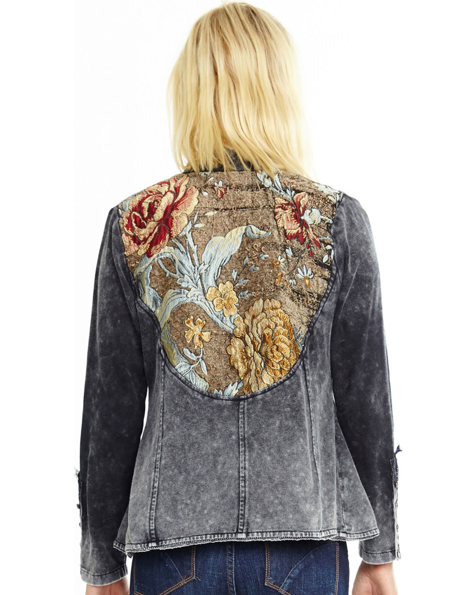 Aratta Women's Charcoal So Obviously Yours Jacket , Charcoal, hi-res