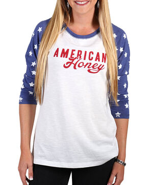 Shyanne Women's American Honey Baseball Tee, Multi, hi-res