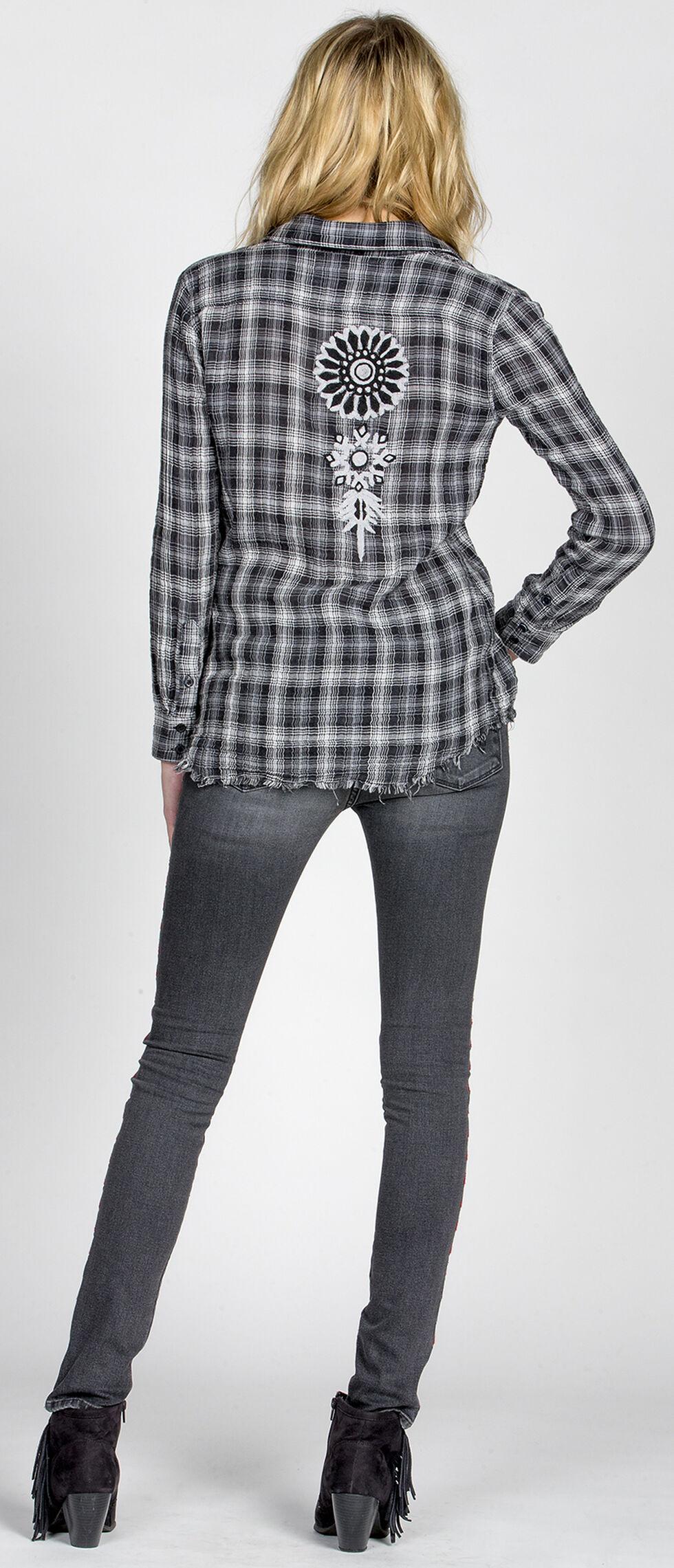 MM Vintage Women's Highway Rider Plaid Shirt, Grey, hi-res
