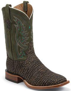 Tony Lama San Saba Distressed Cowboy Boots - Square Toe, , hi-res