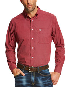 Ariat Men's Ruby Shafter Long Sleeve Western Shirt , Ruby, hi-res