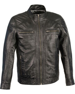 Milwaukee Leather Men's Sheepskin Moto Leather Jacket - 4X , Black, hi-res