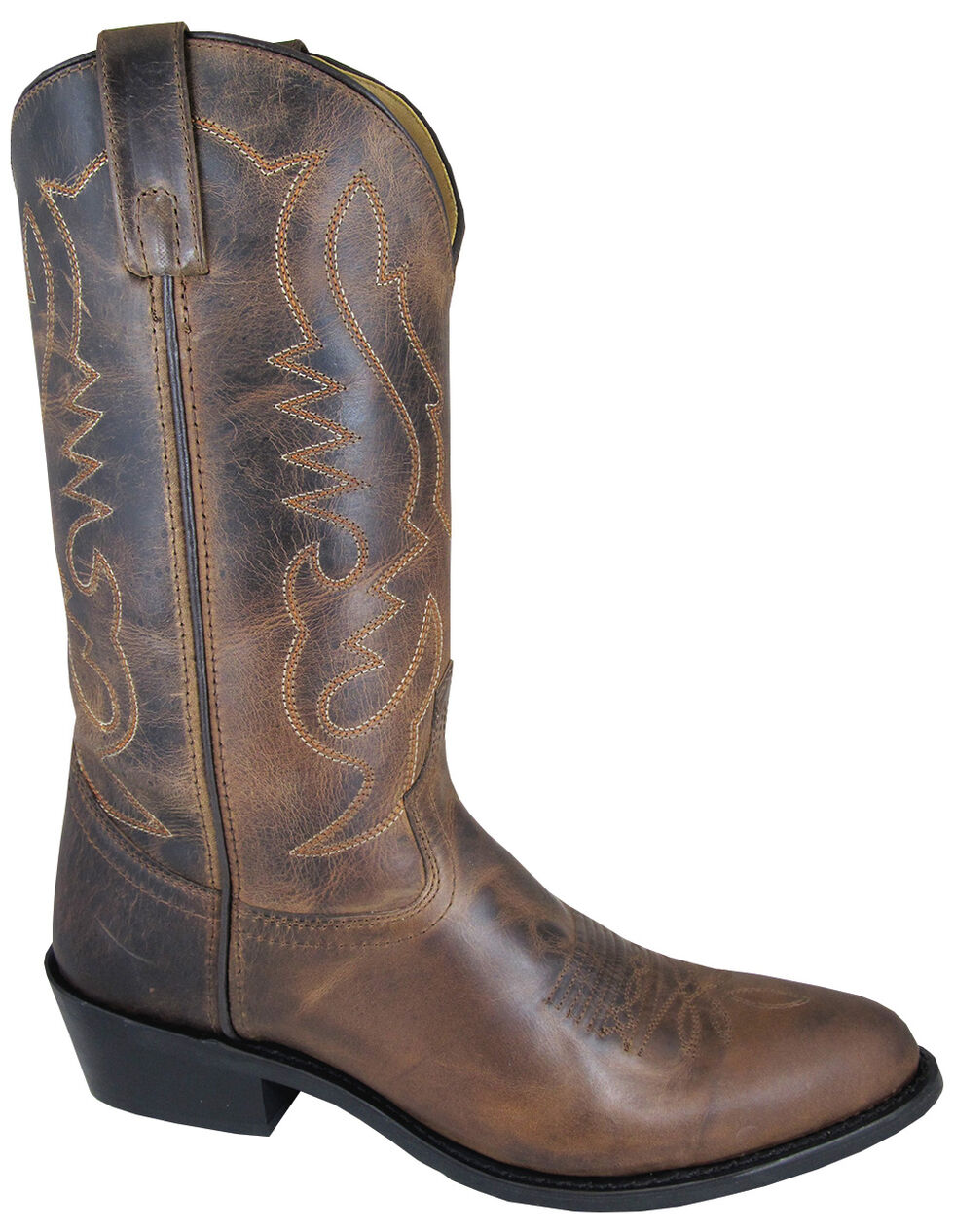 Smoky Mountain Men's Brown Denver Cowboy Boots - Round Toe, Brown, hi-res