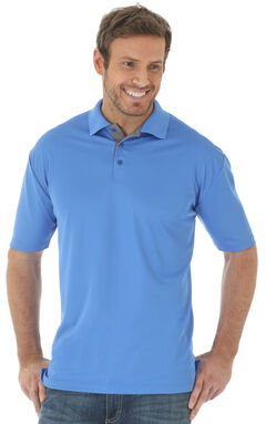 Wrangler Men's Blue 20X® Advanced Comfort Performance Polo, , hi-res