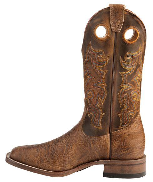 Boulet Stockman Cowboy Boots - Wide Square Toe, Crazyhorse, hi-res
