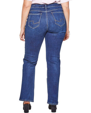 Silver Jeans Women's Avery Slim Fit Boot Cut Jeans - Plus Size , Indigo, hi-res