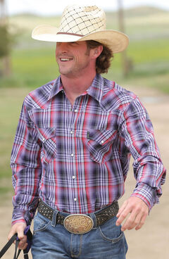 Cinch Men's Multi Modern Fit Button Down Long Sleeve Shirt , Multi, hi-res