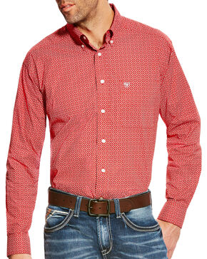 Ariat Men's Batson Print Western Long Sleeve Shirt - Tall, Multi, hi-res