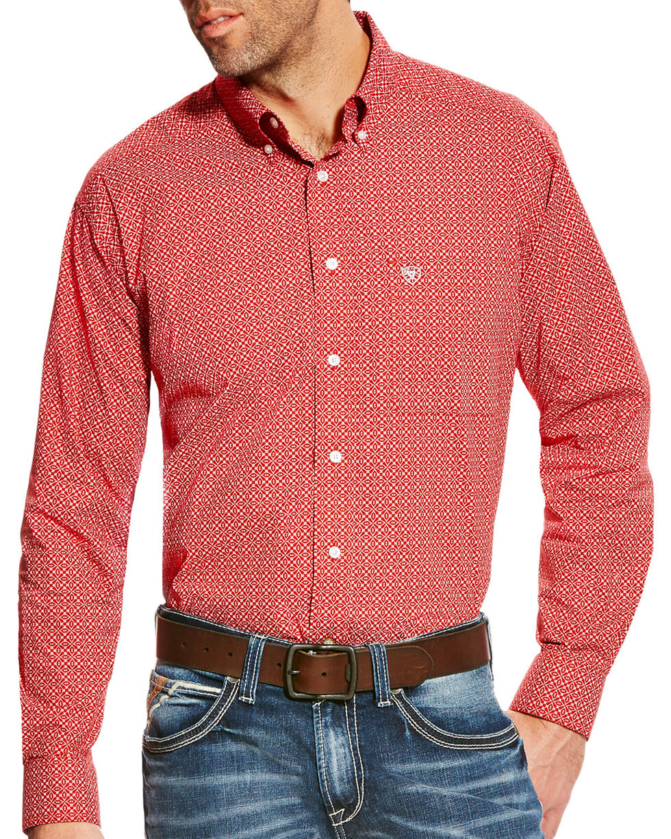Ariat Men's Batson Print Western Long Sleeve Shirt - Tall, Multi, hi-res