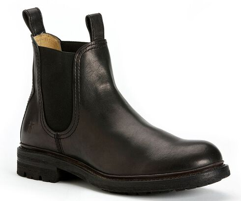Frye Men's Freemont Chelsea Boots - Round Toe, Black, hi-res
