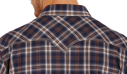 Rock and Roll Cowboy Herringbone Brushed Plaid Western Snap Shirt , Plaid, hi-res