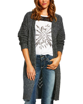 Ariat Women's Grey Addy Heather Cardigan , Grey, hi-res