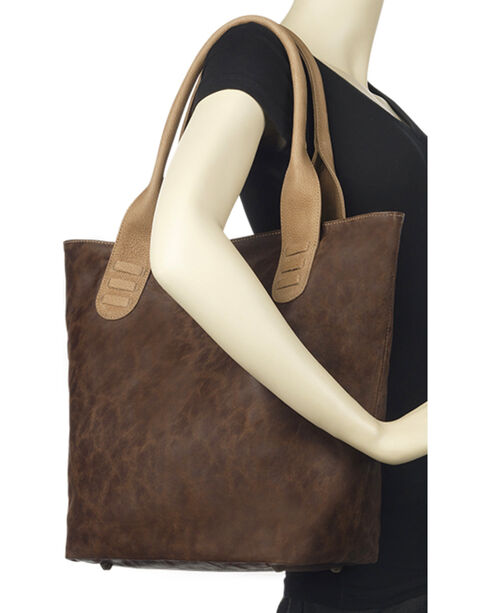 TrueLu Women's Chocolate Taylor Tote , Chocolate, hi-res