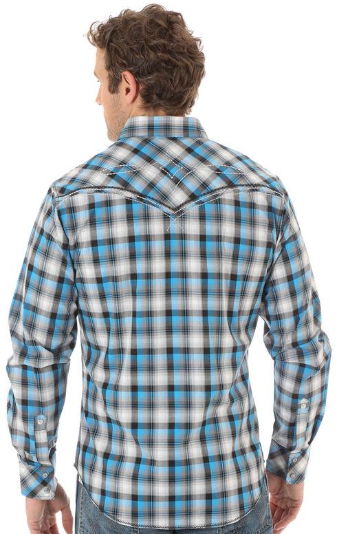 Wrangler Rock 47 Men's Teal & Black Western Shirt , Multi, hi-res