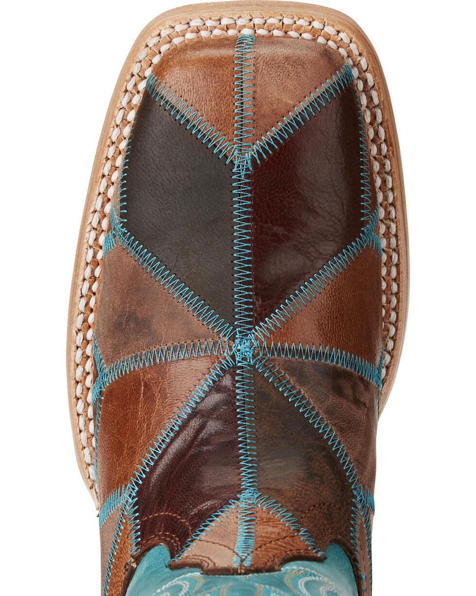 Ariat Women's Reese Patchwork Western Boots - Square Toe, Brown, hi-res