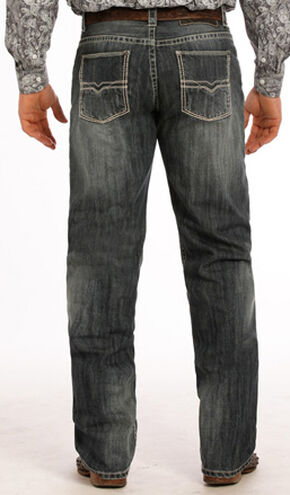 "Tuf Cooper Performance Competition Fit Small ""V"" Jeans - Straight Leg , Indigo, hi-res"