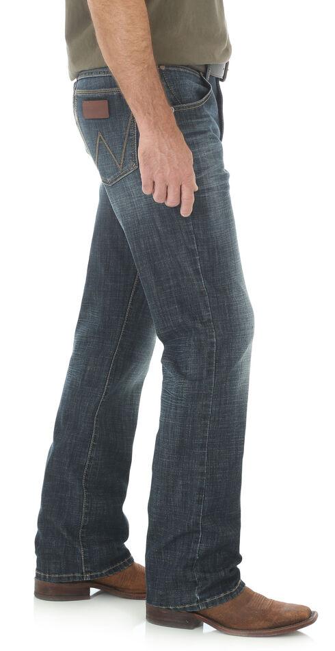 Wrangler Retro Slim Fit Dark Wash Boot Cut Jeans, Indigo, hi-res
