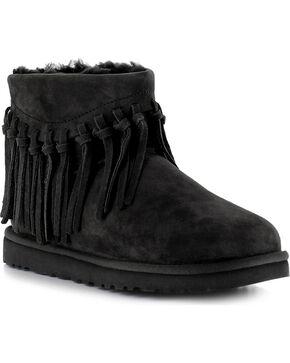 UGG® Women's Winona Fringe Short Boots, Black, hi-res