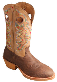 Twisted X Crazy Horse Ruff Stock Cowboy Boots - Round Toe, , hi-res