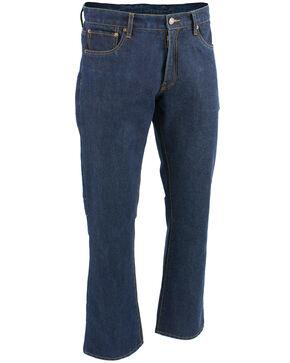 "Milwaukee Leather Men's Blue 34"" Aramid Infused 5 Pocket Loose Fit Jeans - XBig, Blue, hi-res"