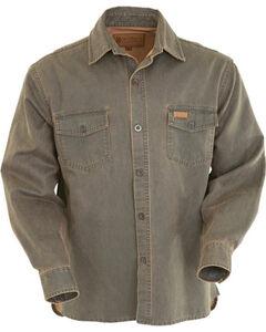 Outback Trading Co. Men's Brown Arkansas Shirt Jacket , Brown, hi-res
