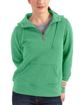 Carhartt Women's Light Green Clarksburg Quarter-Zip Sweatshirt, Lt Green, hi-res