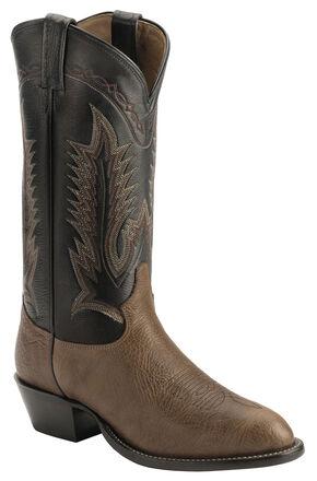 Tony Lama Shoulder Cowboy Boots - Medium Toe, Chocolate, hi-res