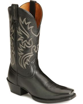 Ariat Legend Cowboy Boots - Square Toe, Black, hi-res