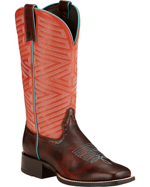 Ariat Outsider Cowgirl Boots - Square Toe , Brown, hi-res