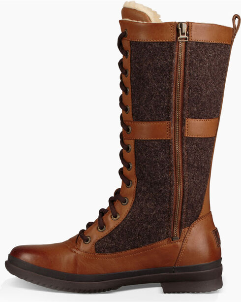 UGG Women's Chestnut Elvia Tall Boots - Round Toe , Chestnut, hi-res